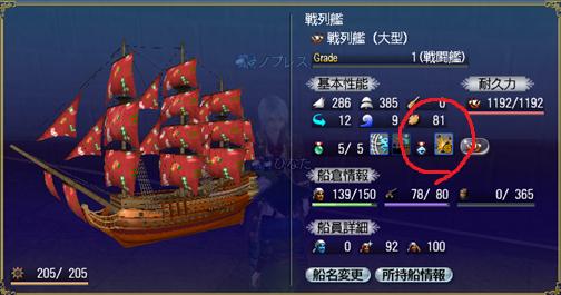 最初のスキル(戦列艦)