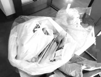 キッチンから出た処分する大袋