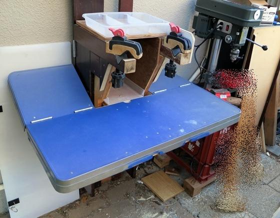 作業テーブル改造前
