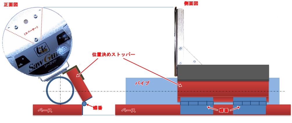 ソーガイドパイプ用治具設計図2