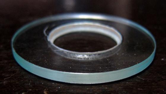 アクリル円盤端面磨き