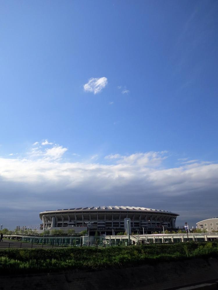 雲の日産スタジアム