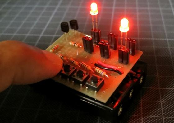 単四電池ケースと合体