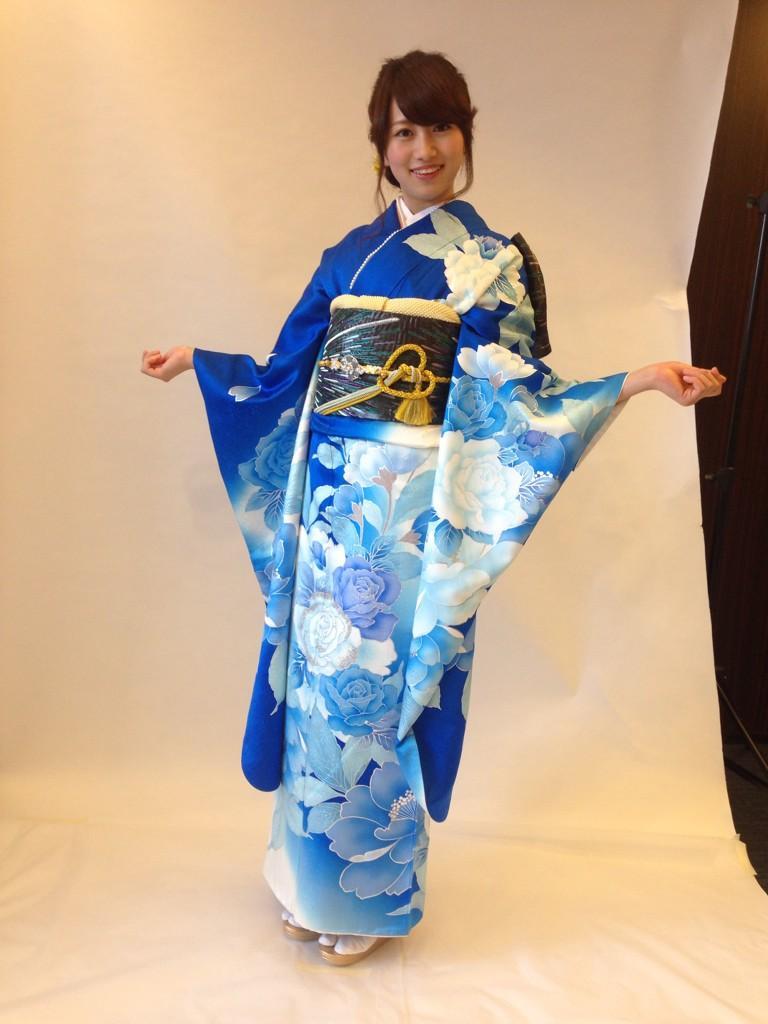 2014年ミス東大に藤澤季美歌さん 2015ブログ用晴れ着