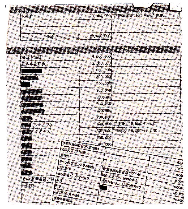 週刊文春 田母神 水島チクリ 見積書