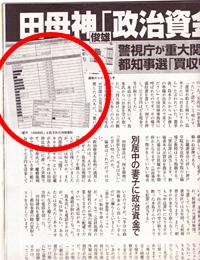 週刊文春 田母神 水島チクリ記事左側