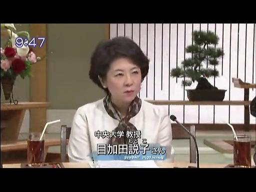 サンデーモーニング 目加田説子
