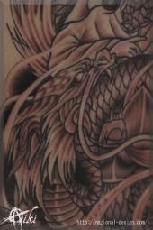 20150330 名古屋 栄 タトゥー ピアス スタジオ 刺青 和彫り 観音 龍 蓮 騎龍観音 ボディピアス
