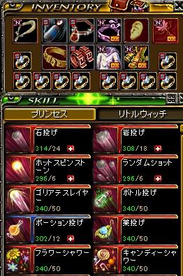 15.5.1現在の花姫装備・スキル
