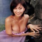 安田美沙子 セクシー 温泉 おっぱいの谷間 濡れている 誘惑 高画質エロかわいい画像9329