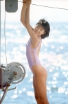 羽田美智子 セクシー ハイレグ水着 80年代アイドル 太もも ムチムチ 女優 高画質エロかわいい画像9349