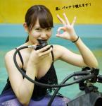AKB48 永尾まりや セクシー レギュレーター咥え 女 OKサイン おっぱいの谷間 ダイビング 高画質エロかわいい画像9411