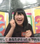 AKB48 西野未姫 目を閉じている ビビり顔 口開け 地上波キャプチャー顔面クリーム砲直前 高画質エロかわいい画像9428