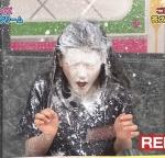 AKB48 西野未姫 顔面クリーム砲 ぶっかけ 目を閉じている 地上波キャプチャー 高画質エロかわいい画像9431