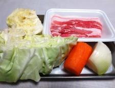 麺つゆカレーラーメン 材料②
