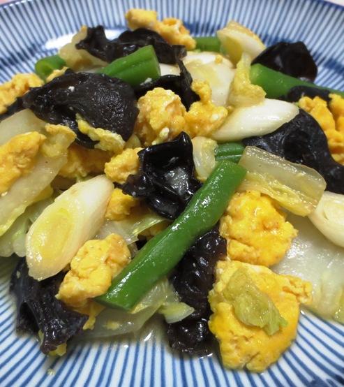 白菜とキクラゲの卵炒め 大