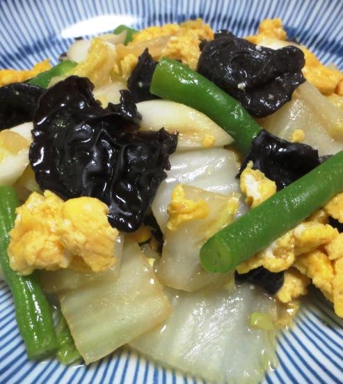 白菜とキクラゲの卵炒め B