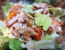 干物とレタスのサラダ 調理③