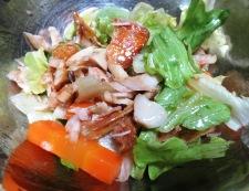干物とレタスのサラダ 調理④
