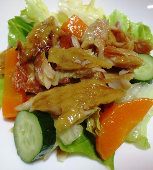 干物とレタスのサラダ 大