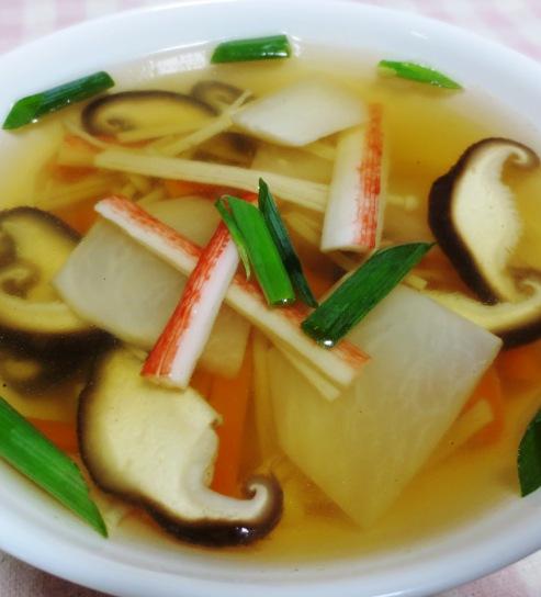 カブとしいたけのスープ B