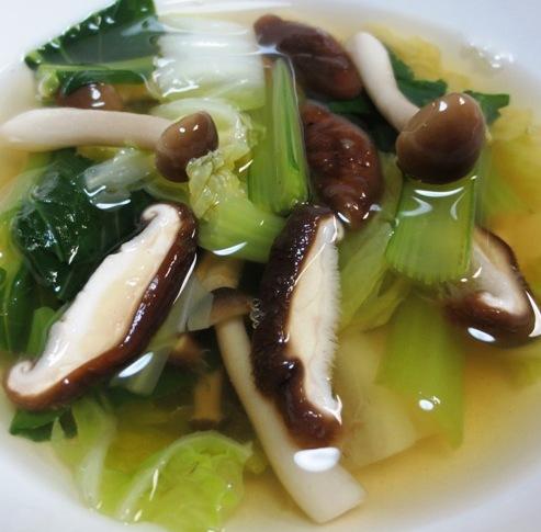 小松菜と茸のスープ B
