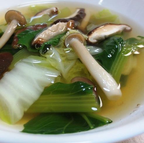 小松菜と茸のスープ 大