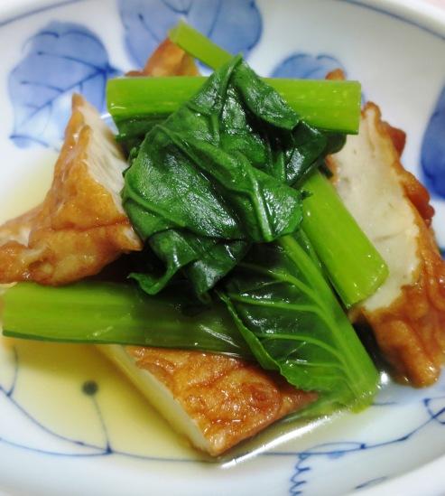 小松菜とさつま揚げの炊いたん B