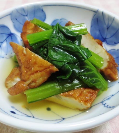 小松菜とさつま揚げの炊いたん 大