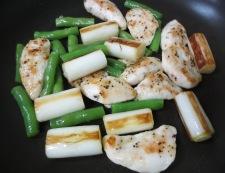 鶏ささみの胡椒炒め 調理④