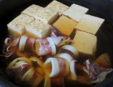 ヤリイカと焼き豆腐の煮物 調理③