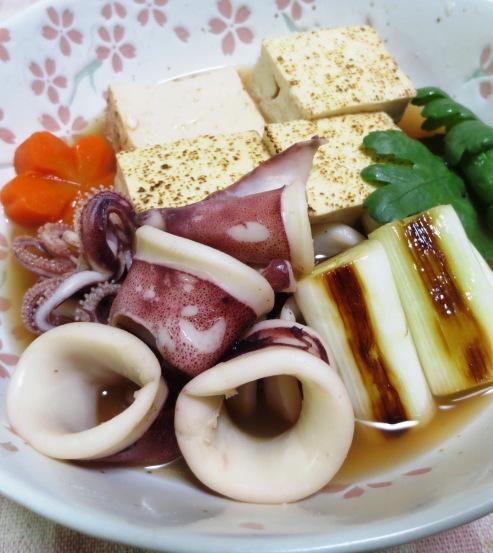 ヤリイカと焼き豆腐の煮物 大
