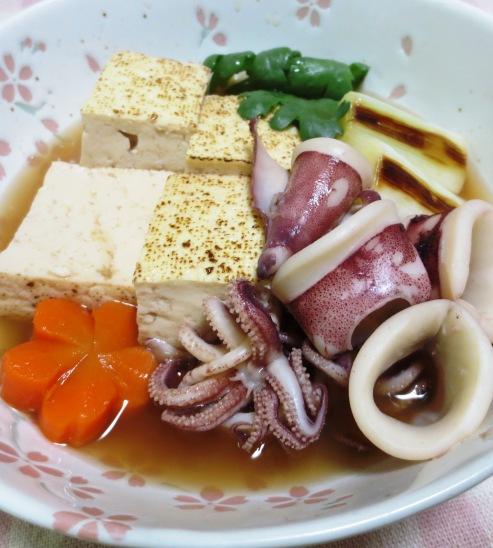 ヤリイカと焼き豆腐の煮物 拡大