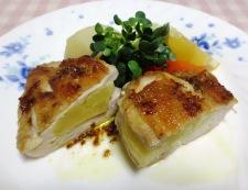 鶏むね肉のアップルサンドソテー 調理⑥