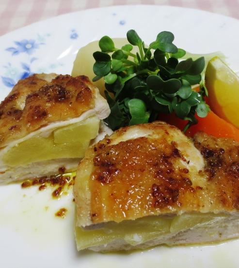 鶏むね肉のアップルサンドソテー B