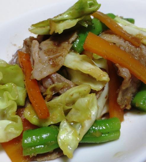 豚こま切れ肉とキャベツの生姜炒め 大
