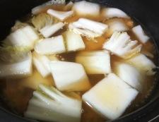 白菜と春雨の鶏そぼろ煮 調理④