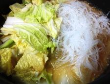 白菜と春雨の鶏そぼろ煮 調理⑤