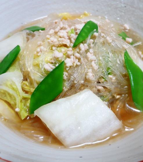 白菜と春雨の鶏そぼろ煮 B