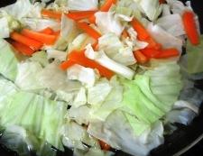 キャベツのツナキムチ炒め 調理②