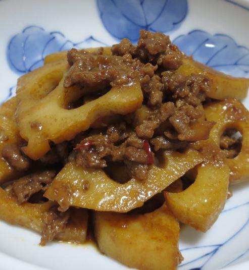レンコンの肉味噌炒め B