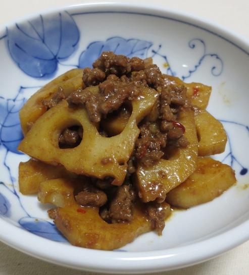 レンコンの肉味噌炒め 大