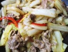 白菜と豚こまの生姜焼き 調理⑤