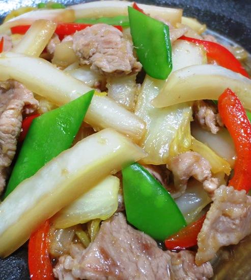 白菜と豚こまの生姜焼き 拡大