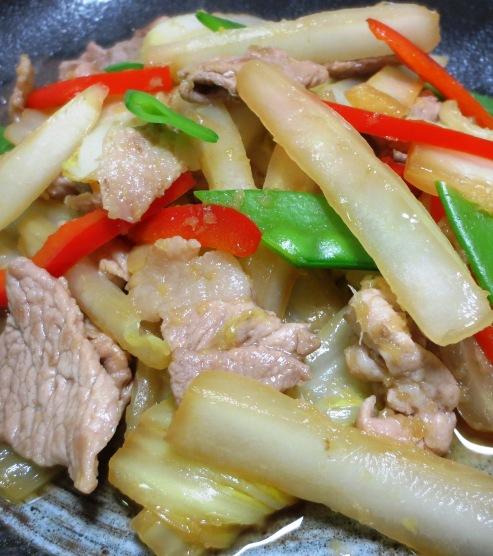 白菜と豚こまの生姜焼き 大