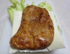 照り焼きチキンサンド 調理②