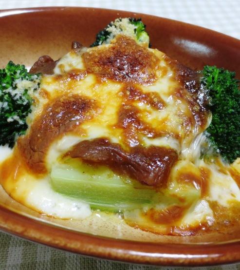 ブロッコリーのカレーチーズ焼き 大