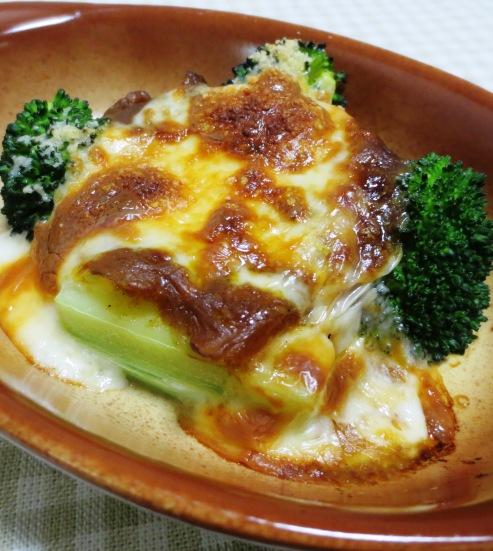 ブロッコリーのカレーチーズ焼き B