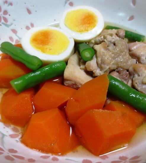 にんじんと鶏もも肉の煮物 B