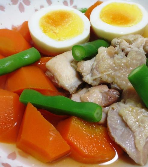 にんじんと鶏もも肉の煮物 拡大